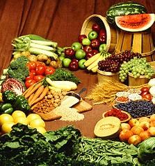 Fruits et légumes pour une alimentation végétarienne ou végétalienne